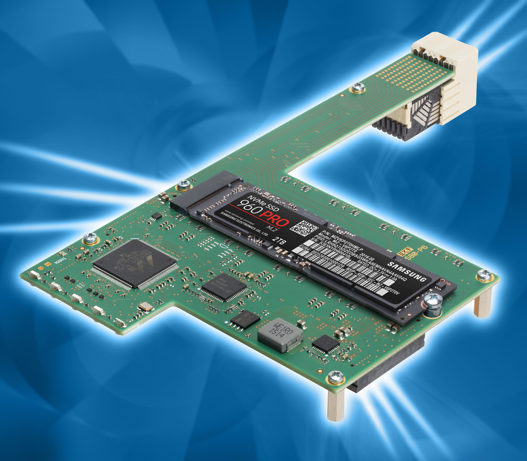 EKF CompactPCI® Serial CPU Boards: S80-P6 • NVMe SSD Storage