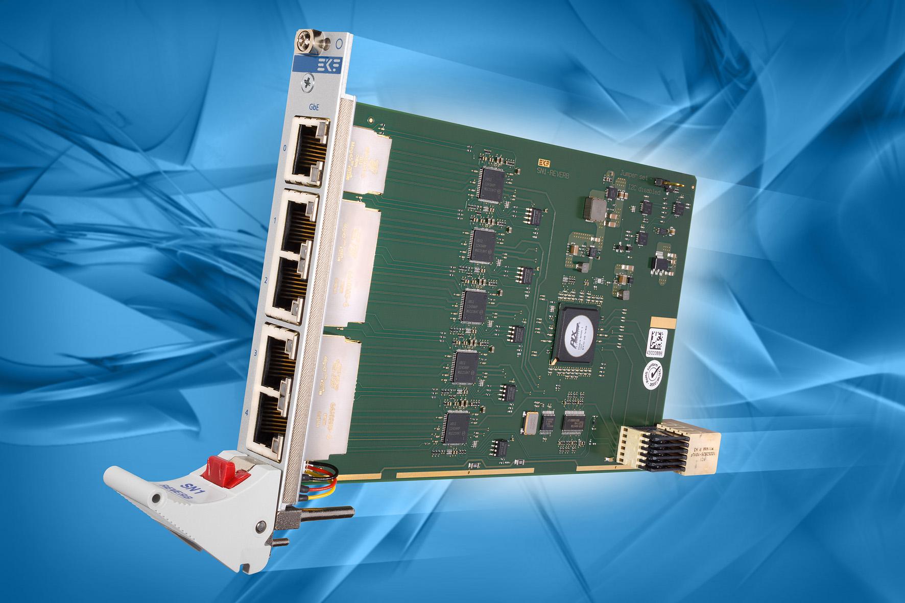 EKF CompactPCI® Serial Products: SN1-REVERB • 5-Port Gigabit