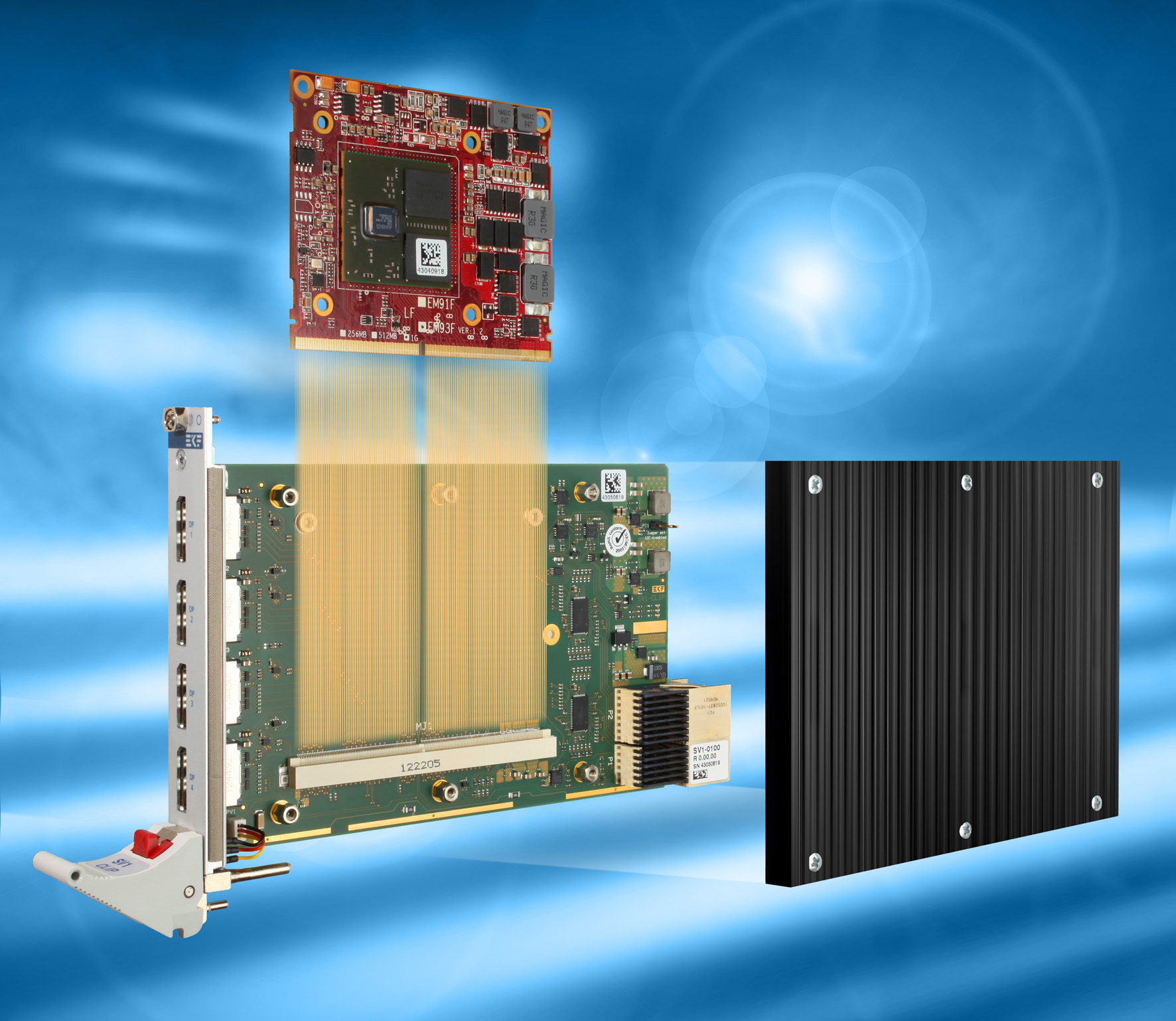 EKF CompactPCI® Serial Products: SV1-CLIP • MXM 3 0 Type A Graphics