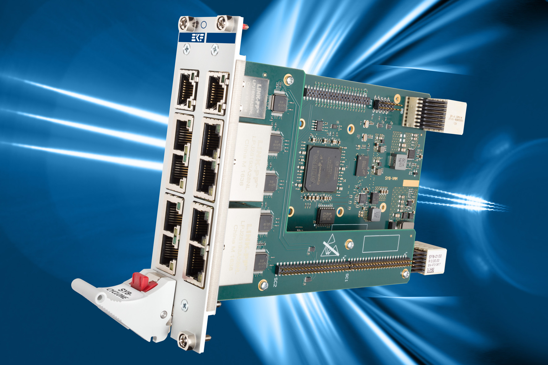 EKF CompactPCI® Serial Products: SY8-CYCLONE • FPGA Based